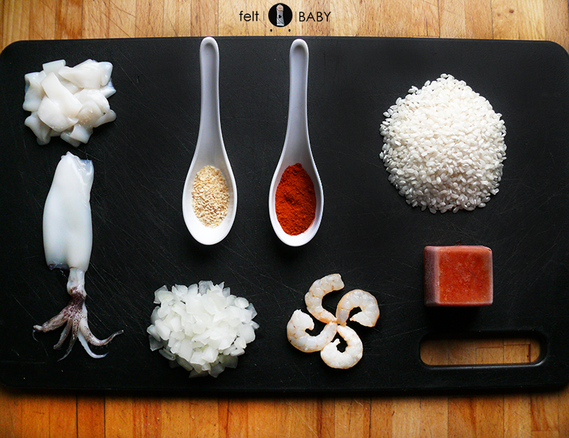 Lifestyle blog feltbaby arroz con rape ingredientes