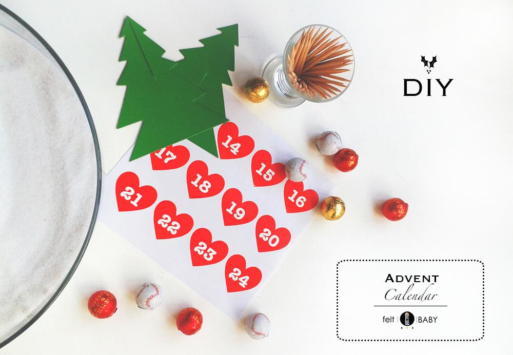 Calendario de adviento para niños DIY feltbaby