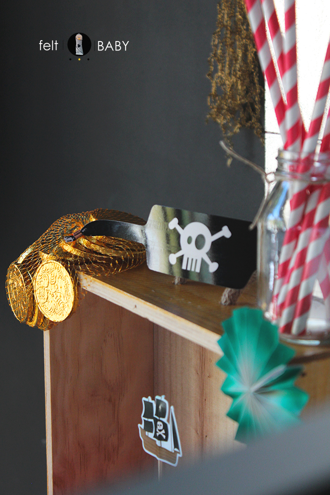 Doblones de oro de chocolate para tesoro pirata
