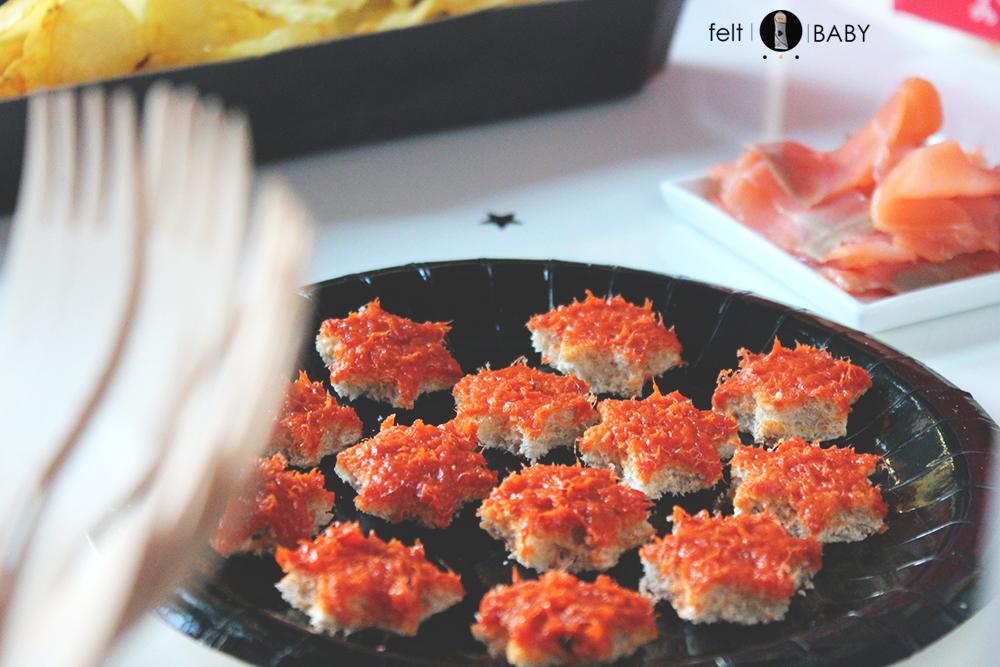 Canapés salados para cumpleaños infantil feltbaby blog