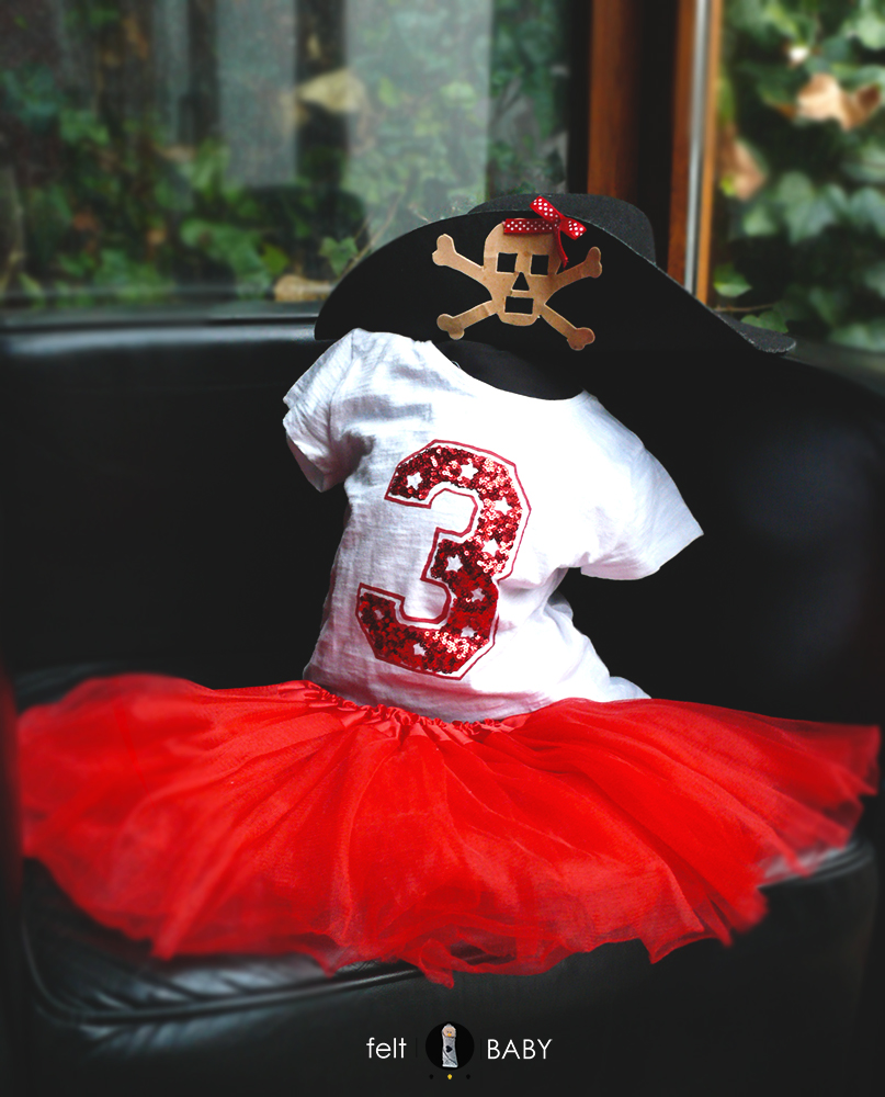 Disfraz de niña para cumpleaños pirata