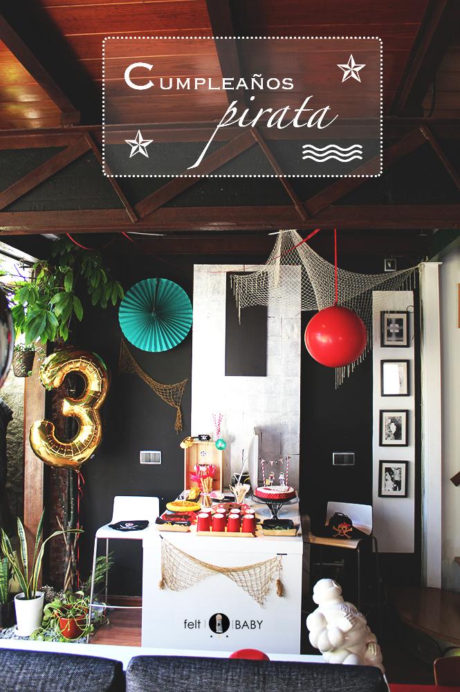 Cumpleaños pirata feltbaby blog