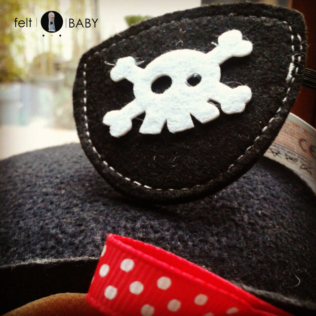 Parche pirata cumpleaños feltbaby blog