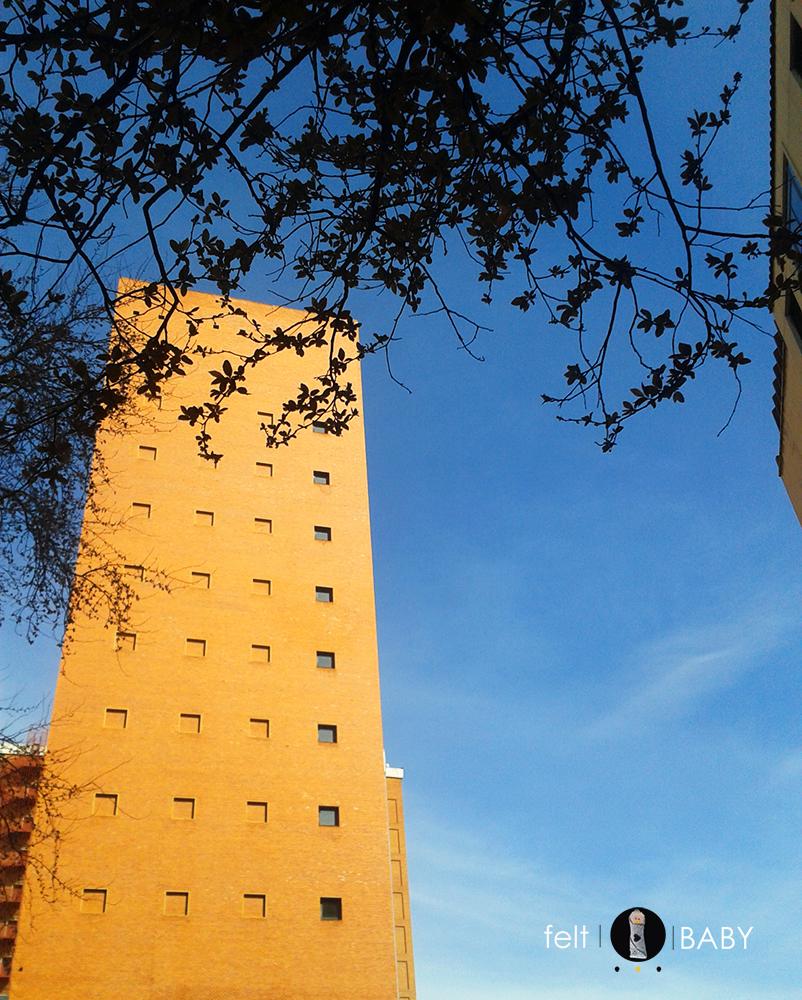 Edificio alto en el centro de Madrid feltbaby blog