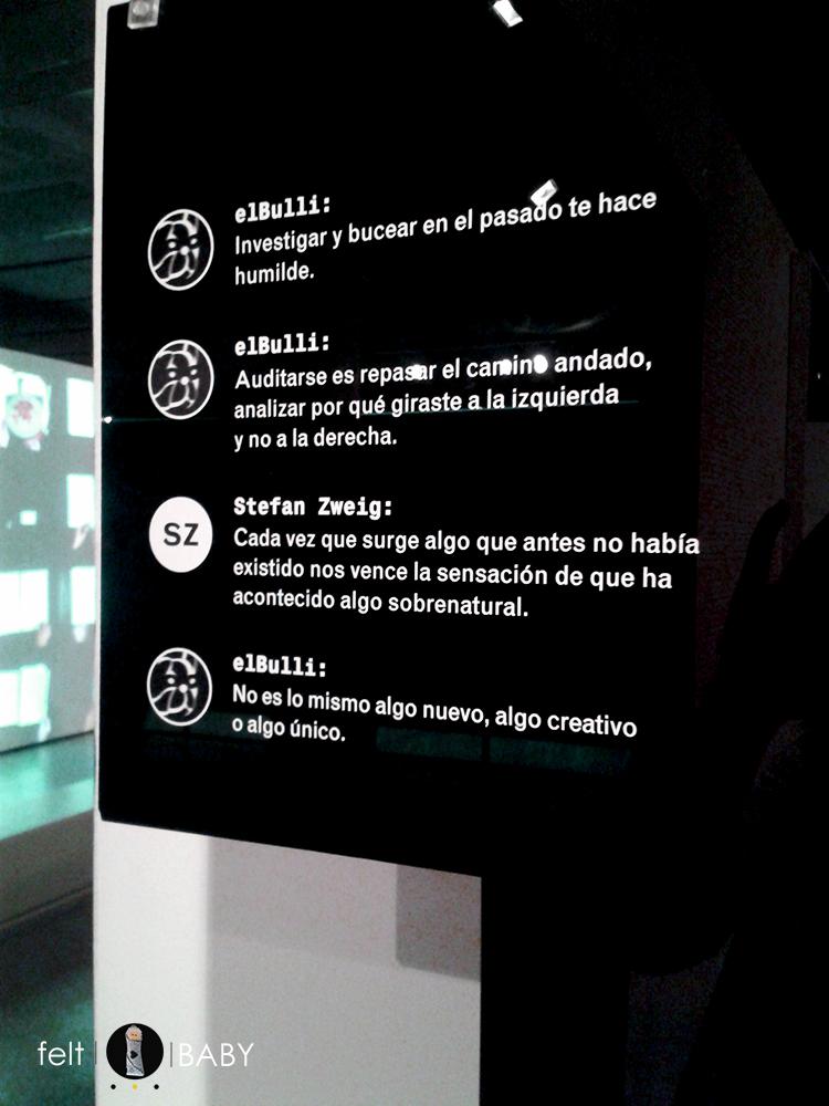 Expo Ferrán Adrià y algunas de sus máximas