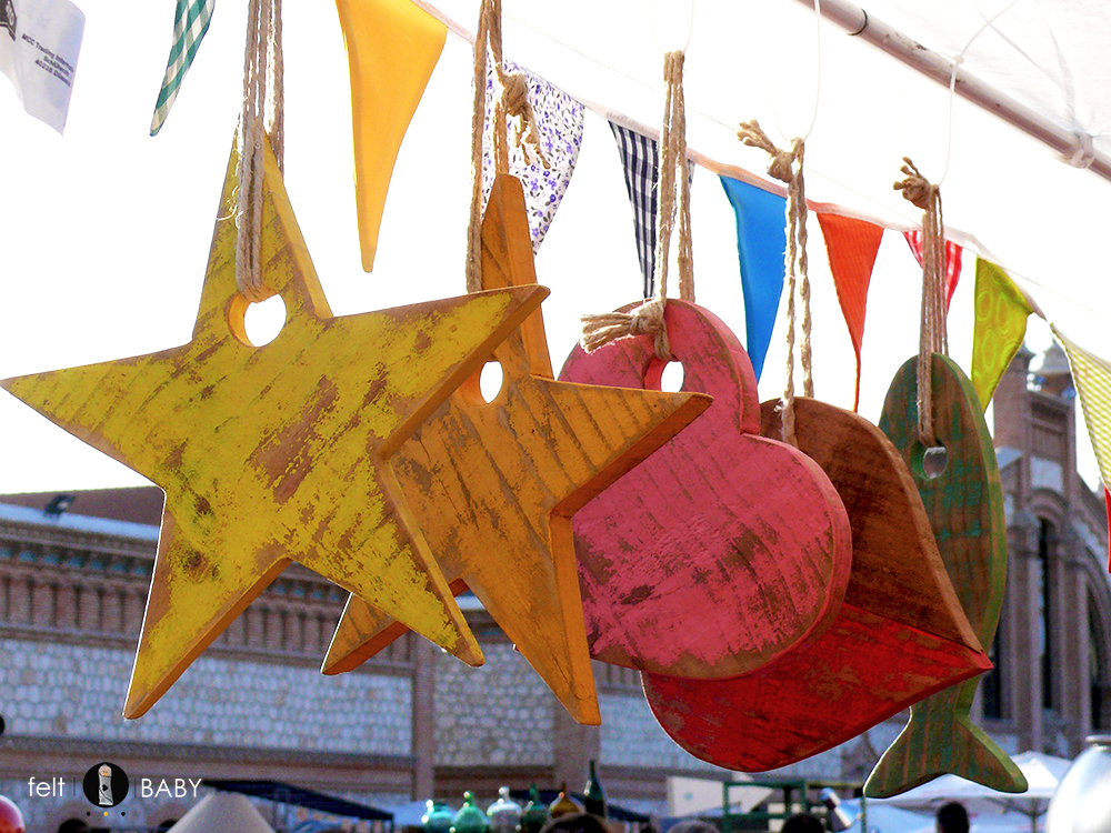 Abalorios de madera colores decapados