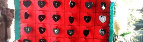 Calendario de adviento en fieltro